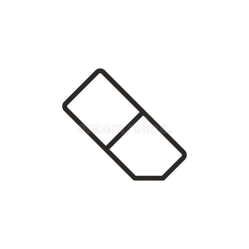 Radiergummivektorikone Element des Design-Tools f?r bewegliches Konzept und Netz Appsvektor D?nne Linie Ikone f?r Websitedesign u lizenzfreie abbildung