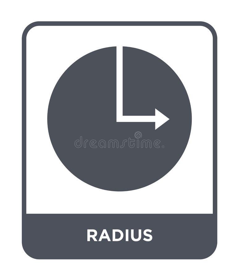 radiesymbol i moderiktig designstil radiesymbol som isoleras på vit bakgrund symbol för symbol för radievektor enkelt och modernt vektor illustrationer