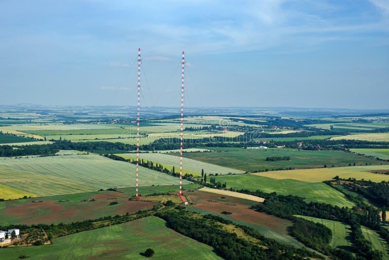 Radioübermittlerturm Liblice, der höchste Bau in der Tschechischen Republik stockfoto