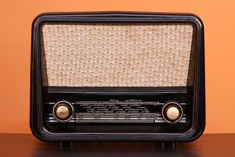 Radio. Vintage radio on color background royalty free stock photos