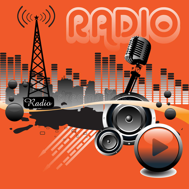 Radio illustration stock