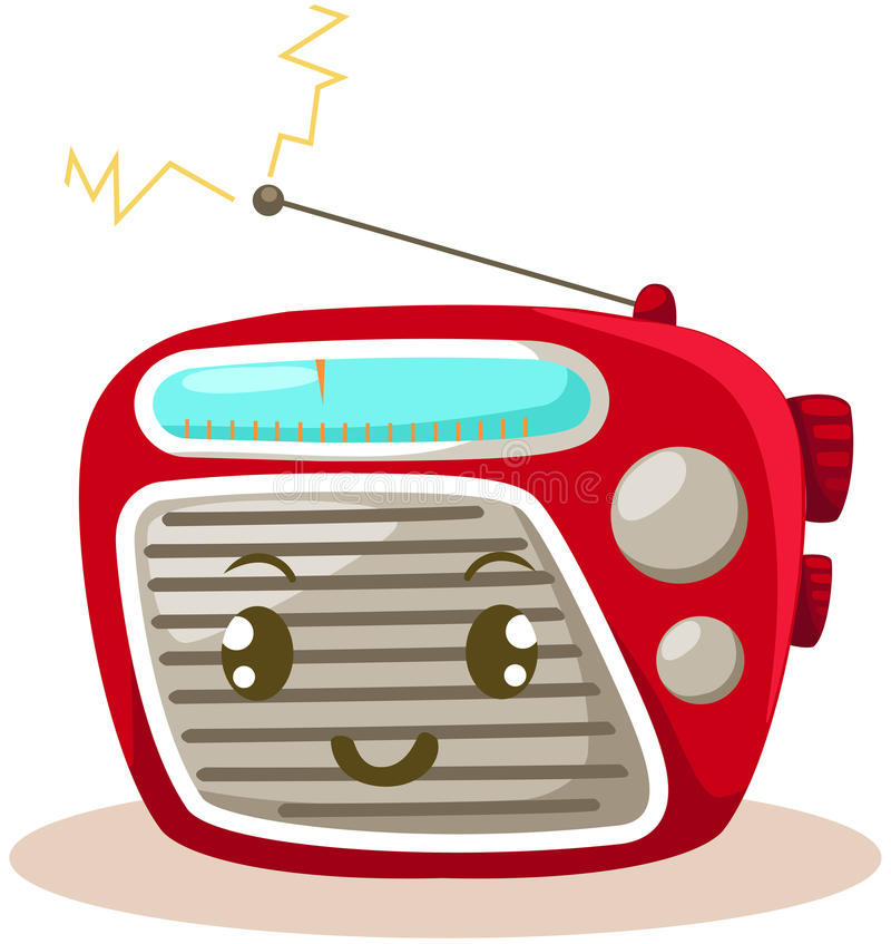 Radio vektor illustrationer