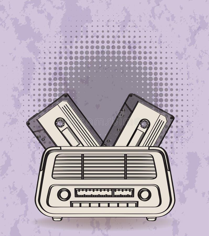 Download Radio illustrazione vettoriale. Illustrazione di ritmo - 55365454
