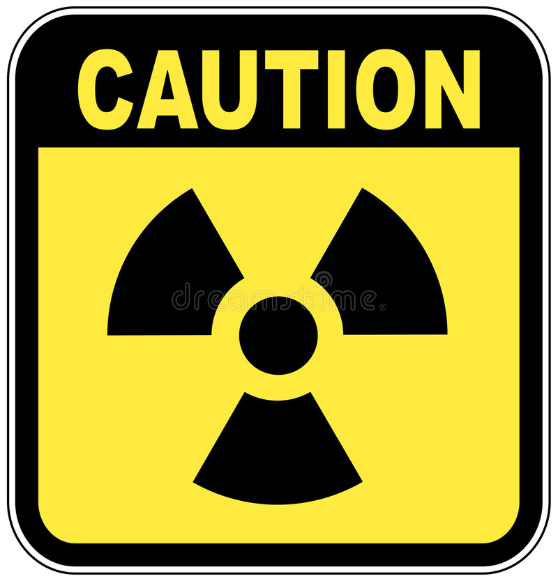 Radio active caution sign vector illustration