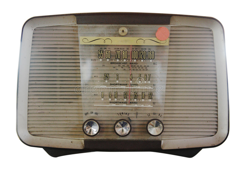 Radio aislada de la vendimia foto de archivo
