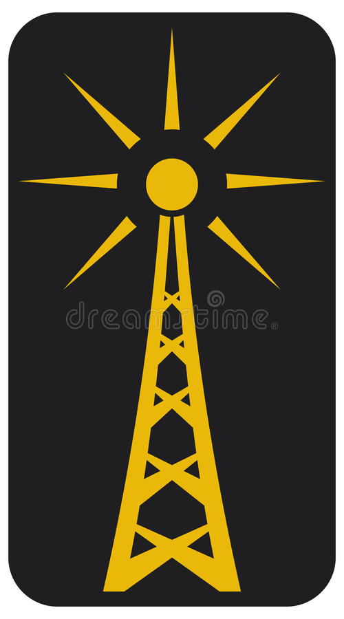Download Radio antenna stock vector. Illustration of communication - 25089094