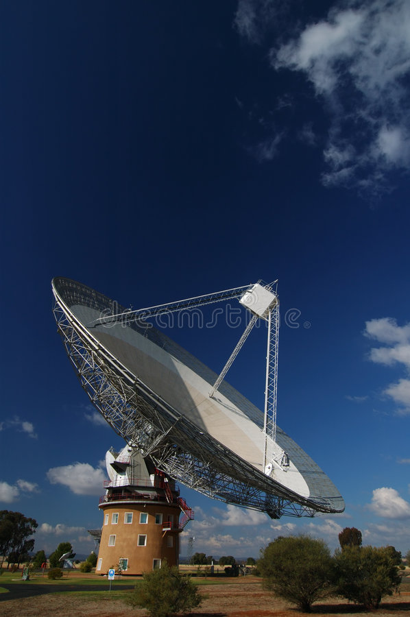 Radio Antenna Dish. Near Parkes, NSW, Australia stock photography