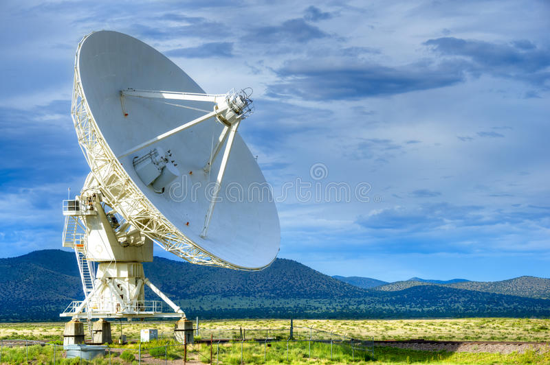 Radio antenna. Dishes of the Very Large Array radio telescope in New Mexico stock image