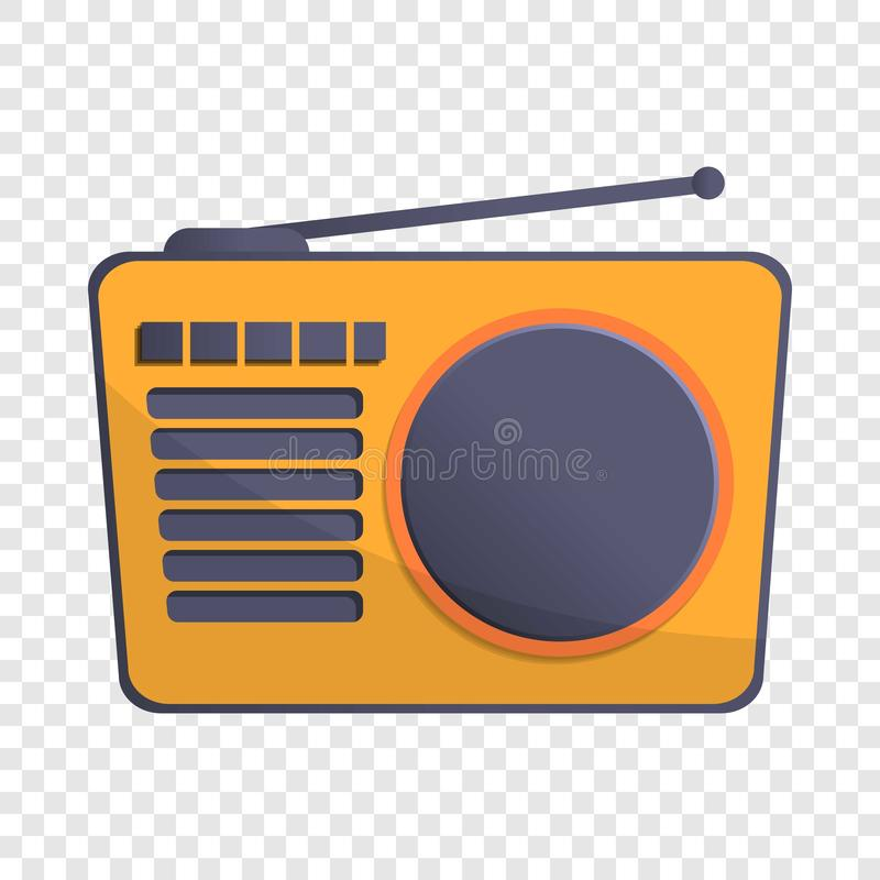 Radio antenna icon, cartoon style royalty free illustration
