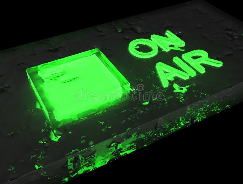 Radio auf Luftgrün - Glasfuß lizenzfreie stockbilder