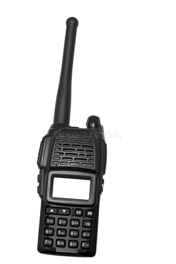 Radio auf weißem Hintergrund stockfotografie