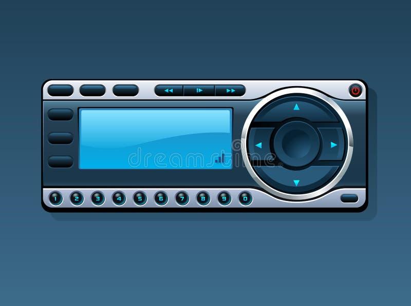 Radio basada en los satélites 2 stock de ilustración
