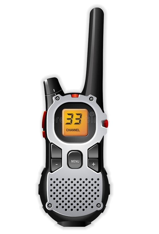 Radio bi-directionnelle de talkie-walkie illustration stock