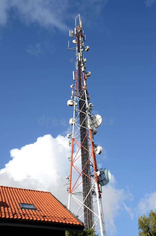 Download Radio Broadcasting And Mobile Transmitters. Stock Photo - Image: 22591332