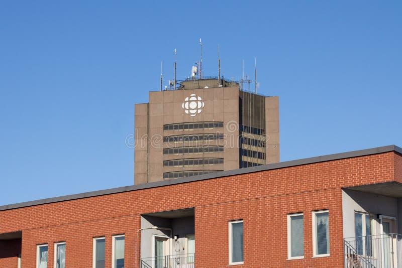 Radio Canada - il CBC della Canadian Broadcasting Corporation acquartiera per la Quebec a Montreal, Canada fotografia stock