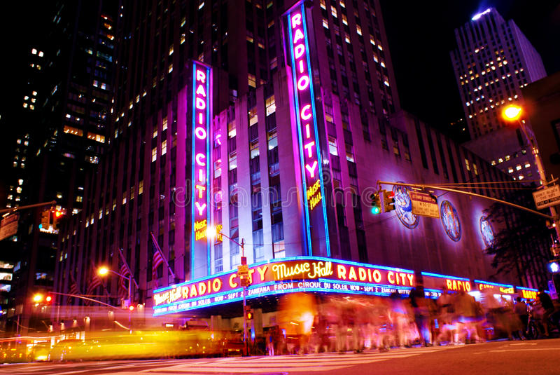 Radio City Music Hall royalty free stock photo