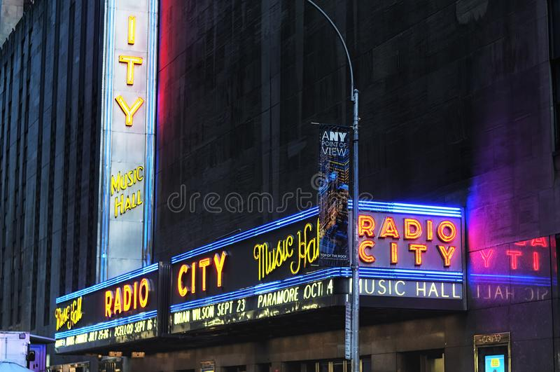 Radio City Music Hall Marquee stock photography