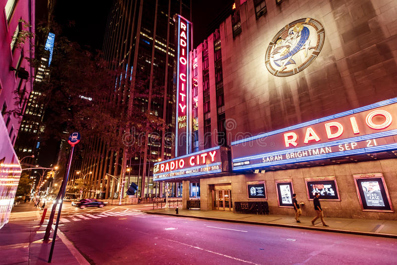 Radio City Music Hall ,New York stock photography