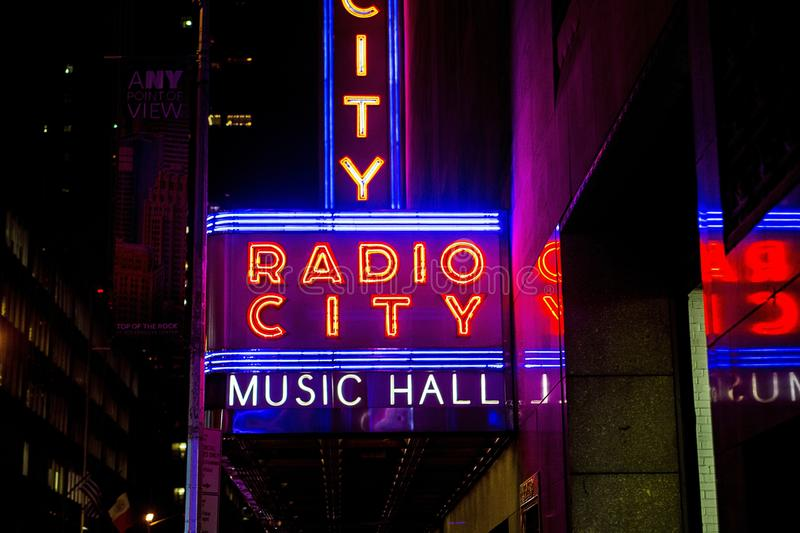 Radio City Music Hall New York stock images