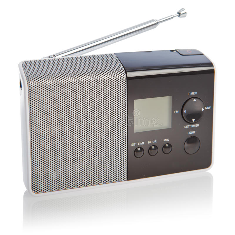 Radio with clipping path stock photo
