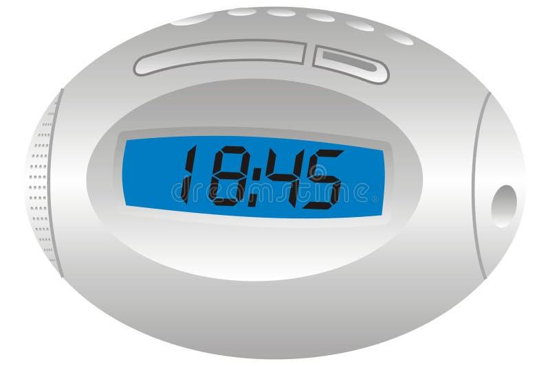 Radio clock vector illustration