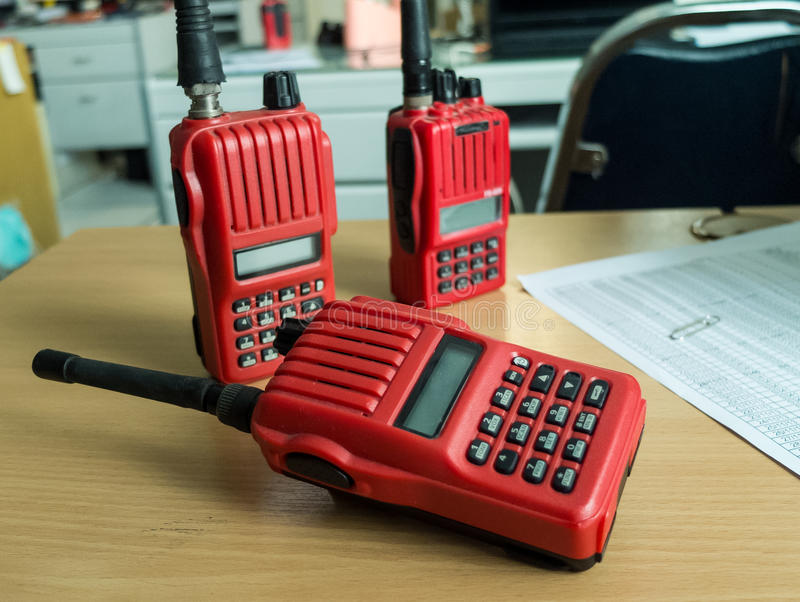 Radio communication. Used in the factory Radio communication royalty free stock photo