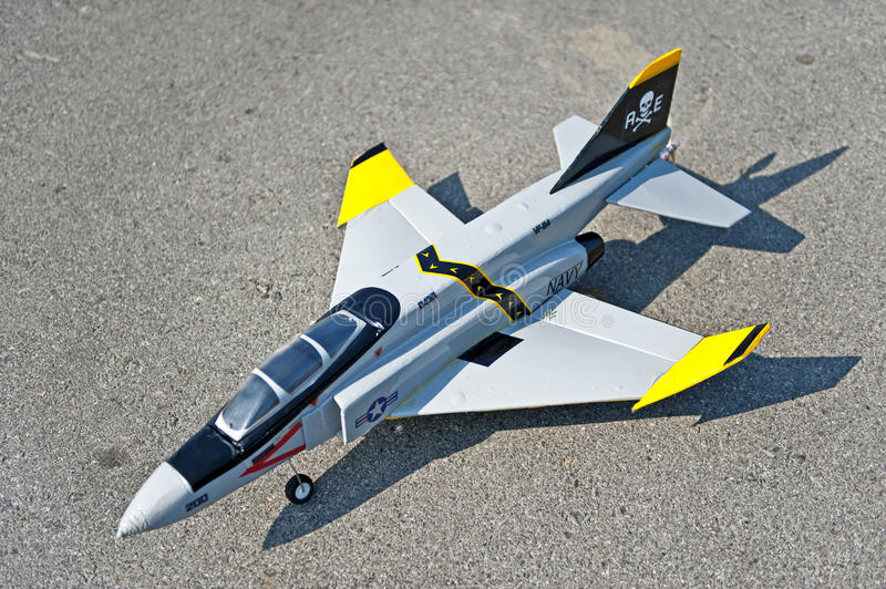 Radio control toy aircraft with electric motor stock photography