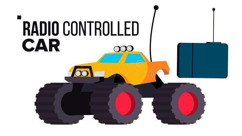 Radio Controlled Car Toy Vector. Isolated Flat Cartoon Illustration stock illustration