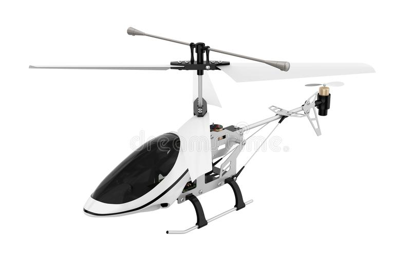 Radio Controlled Helicopter Isolated royalty free illustration