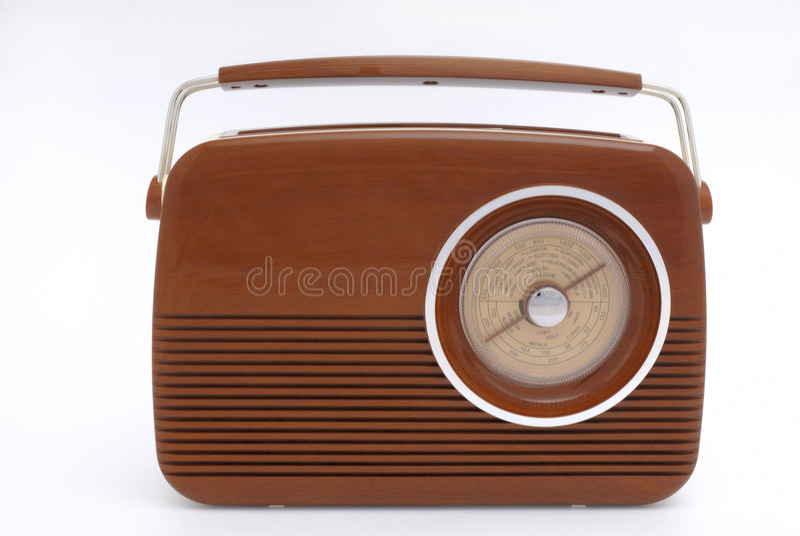 Radio démodée images stock