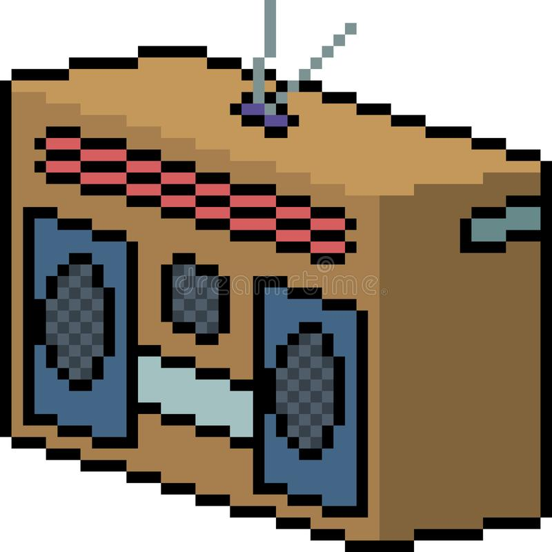 Radio d'art de pixel de vecteur illustration libre de droits