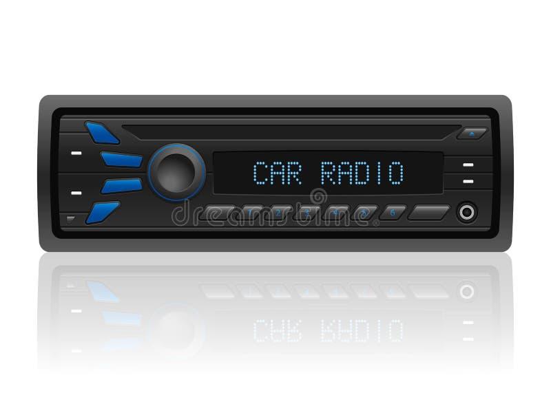 Radio de coche stock de ilustración