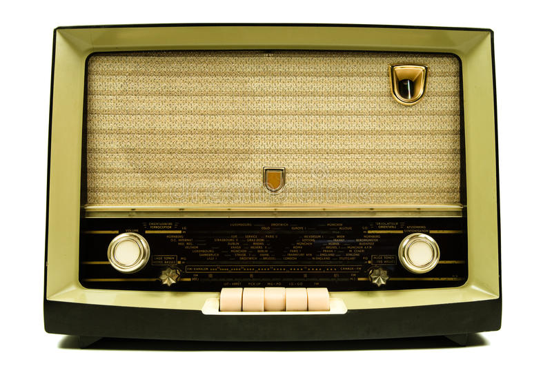 Radio de cru photo stock