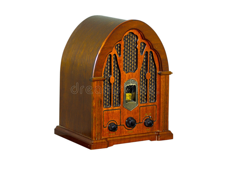Radio de cru photo stock
