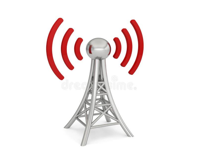 Radio de la red 3G 4G 5G de la antena ilustración del vector