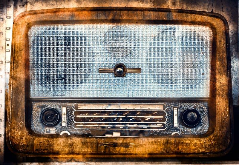 Radio de la vendimia con una textura del grunge foto de archivo libre de regalías