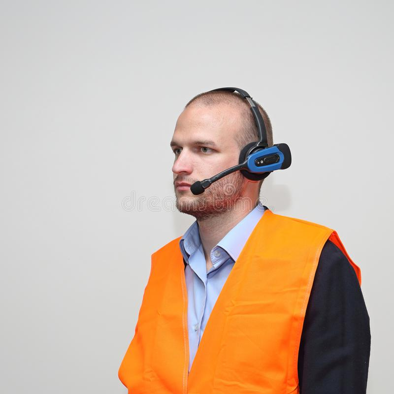 Radio de travailleur de sécurité photo stock