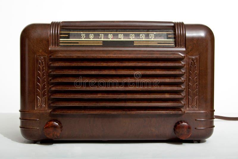 Radio de tube électronique de cru image stock