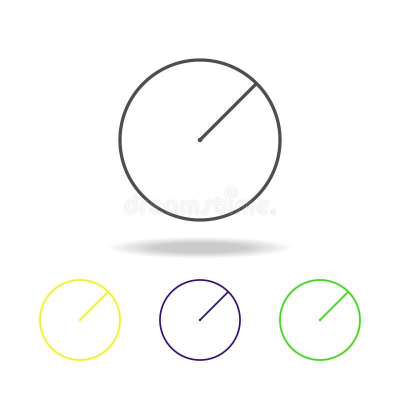 radio de un icono coloreado círculo Puede ser utilizado para la web, logotipo, app móvil, UI, UX libre illustration