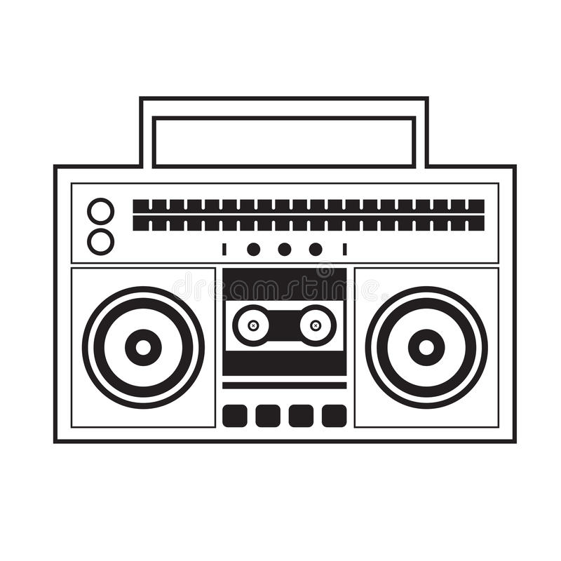 Radio del arenador del ghetto ilustración del vector