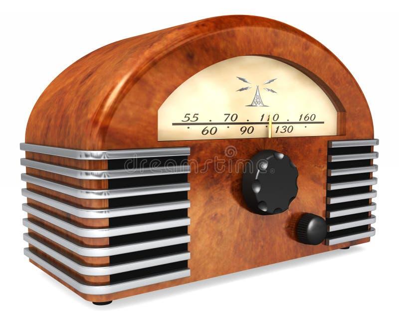 Radio del Arte-Deco foto de archivo