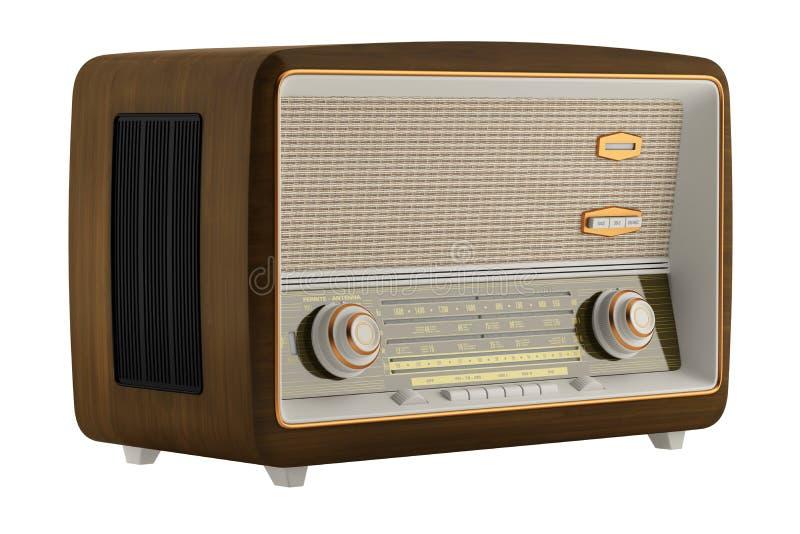 Radio del vintage aislada en blanco libre illustration