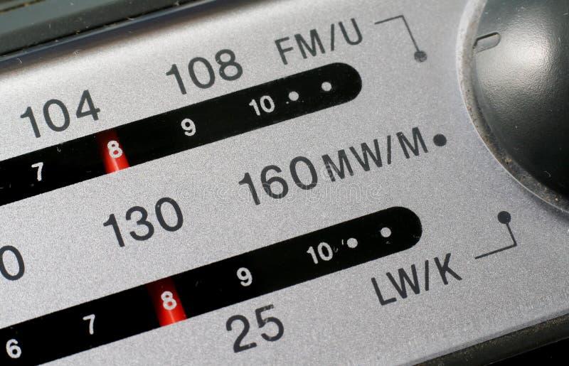 Radio Dial. Station tuning dial of analogue radio royalty free stock photo