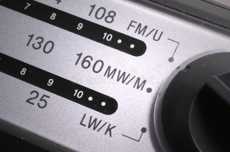 Radio Dial 3. Station tuning dial of analogue radio royalty free stock images