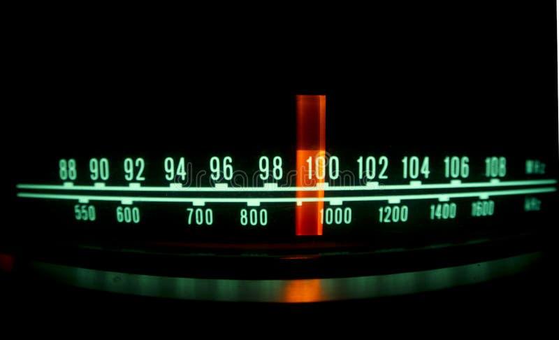 Radio dial with lights stock photo