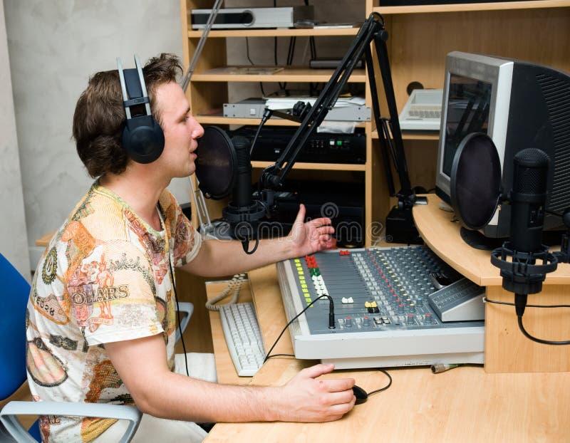 Radio DJ foto de archivo libre de regalías