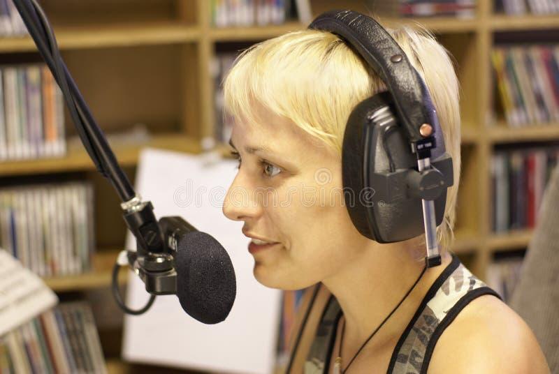 Radio DJ Et Annonceur Photo libre de droits