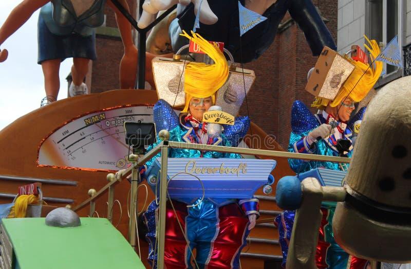 Radio DJ Julie van den Steen, carnaval d'Aalst photo stock