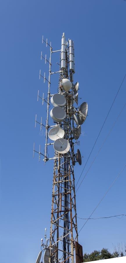 Radio draadloze antennes stock fotografie