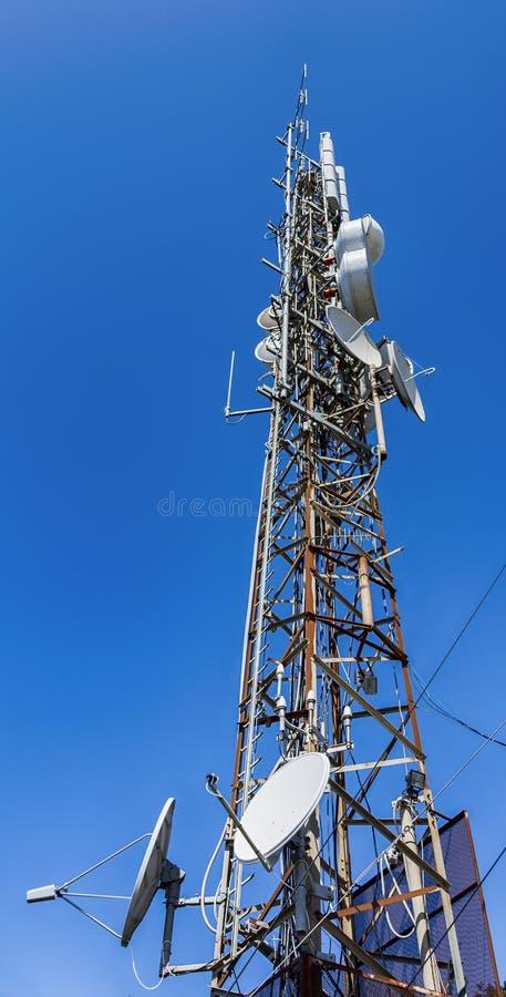 Radio draadloze antennes royalty-vrije stock foto